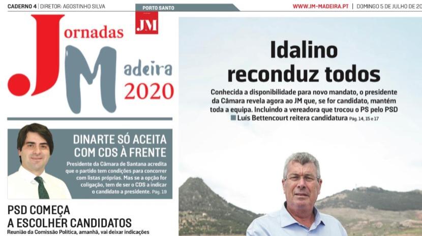 Hoje com o JM: Caderno especial com destaque Autárquicas e Porto Santo